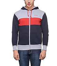 AWG Men's Premium Rich Cotton Pullover Hoodie Sweatshirt with Zip