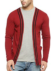Gritstones Round Neck Full Sleeve Men'S Shrug GSFSSHG1304MRNBLK