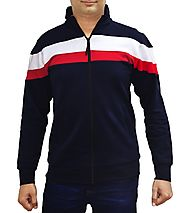 AWG Men's Premium Multicolour Sweatshirt with Zip