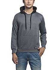Alan Jones Solid Full Hooded Sweatshirt