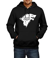 Fanideaz Cotton Winter is Coming GOT Wolf Hoodies For Men Premium Sweatshirt