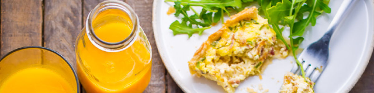 Headline for 12 Delicious Quiche Recipes!
