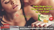 Cialis Single Dose to get your Erection up in a Flash