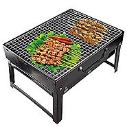 Royal Charcoal BBQ Grill Oven Set (Black, 4-Pieces, Metal) | 11 Types Of Barbeque Grills & Tandoors