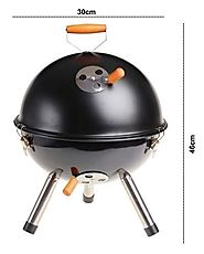Kurtzy Round Portable Charcoal Grill Stainless Steel BBQ | 11 Types Of Barbeque Grills & Tandoors
