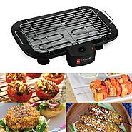 Cello Electric Barbeque Grill with 3 Free Skewers | 11 Types Of Barbeque Grills & Tandoors