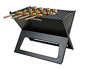 Fabrilla Barbeque Charcoal Portable Grill- Black With 4 Skewers Bar-Be-Que | 11 Types Of Barbeque Grills & Tandoors