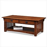Leick Furniture Mission 2-Drawer Coffee Table