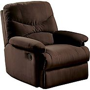 Eshion Wall Hugger Microfiber Recliner Adjustable Chair for Living Room, Multiple Colors (Chocolate)