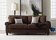 Serta RTA Copenhagen Collection 73″ Sofa in Rye Brown