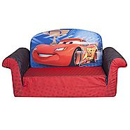 Marshmallow Furniture, Children's 2 in 1 Flip Open Foam Sofa, Disney/Pixar Disney Pixar Cars 2, by Spin Master