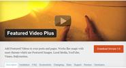 "WordPress › Featured Video Plus "" WordPress Plugins"