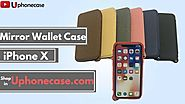 Folio Wallet Case with Mirror for iPhone X | Uphonecase.com