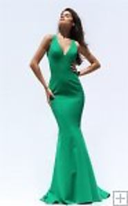 2017 Elegant Sherri Hill 50644 V-neck Beaded Cutout Emerald Slim Prom Dress [Sherri Hill 50644 Emerald] - $208.00 : 2...