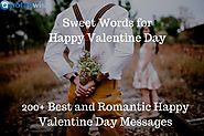 Sweet Words for Happy Valentine Day – Special Greetings