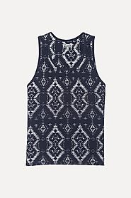Buy Geometric Reverse Printed Summer Tank for Men at Zobello
