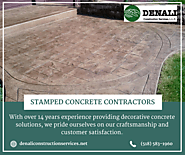 Affordable Stamped Concrete Services | Denali Construction