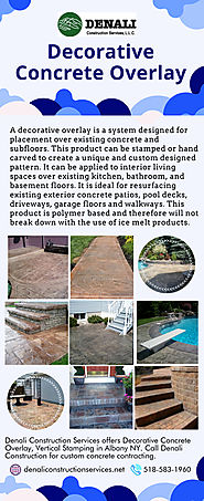 Decorative Concrete Overlay Services In Albany NY