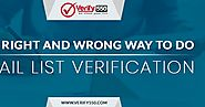 The right and wrong way to do email list verification