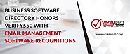 Business Software Directory Honors Verify550 With Email Management Software Recognitions