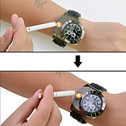 Military Electronic Lighter Usb Quartz Watch Man Quartz Sports Cigarette Lighter Men Watches WL002