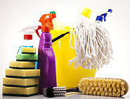 Clean the cleaning supplies