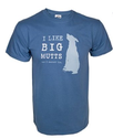 """I Like Big Mutts ... and I Cannot Lie."" nisex T-shirt (Indigo) by Dog Is Good: Clothing"