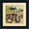 Cafe French Country Kitchen Decor I Art Print Framed