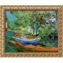 1890 Framed Wall Art by Vincent van Gogh - 26.12W x 30.12H in.: Home & Kitchen