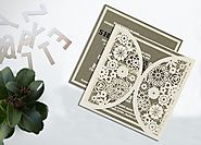 Floral Themed Laser Cut WeddingInvitations | AD-1594 | A2zWeddingCards