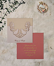 New Laser Cut Wedding Invitations Designs |AIN-1800 | A2zWeddingCards