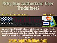 Why Buy Authorized User Tradelines?