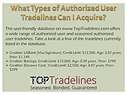 What Types of Authorized User Tradelines Can I Acquire?