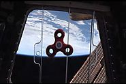 NASA Astronaut Takes a Fidget Spinner into Space