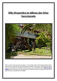 Why properties in athens are wise investments