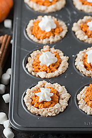 Mini Pumpkin Pie Rice Krispies