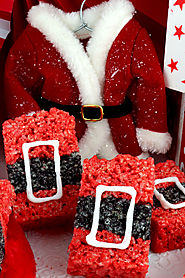 Santa Claus Rice Krispie Treats