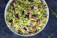 Brussels Sprouts Salad with Citrus Vinaigrette