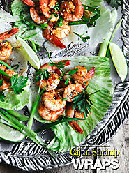 Cajun Shrimp Lettuce Wraps