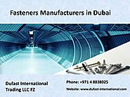 Top quality of bolts and rives in Dubai for fastening