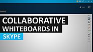 Using a Collaborative Whiteboard in Skype