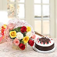 Buy/Send Roses & Black Forest Cake Online - YuvaFlowers.com