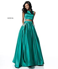 Crystal Pockets 2018 Sherri Hill 51673 Emerald Long Satin Evening Gown 2 Piece [Sherri Hill 51673 Emerald] - $200.00 ...