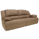 Signature Design by Ashley Furniture Hogan - Mocha 2 Seat Reclining Sofa at Sam's Furniture & Appliance
