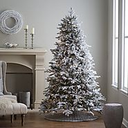 12 best Flocked Fake Christmas Trees images on Pinterest | Christmas trees and Winter wonderland