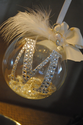 Rhinestone Monogram Ornament