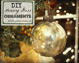 DIY Faux Mercury Glass Ornament