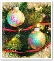 Swirly Finger Painted Ornament