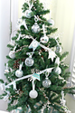 Silver Leaf Glass Ornaments