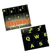 Glowing Fluorescent keyboard Stickers are best for your work on computer – 4Keyboard.com